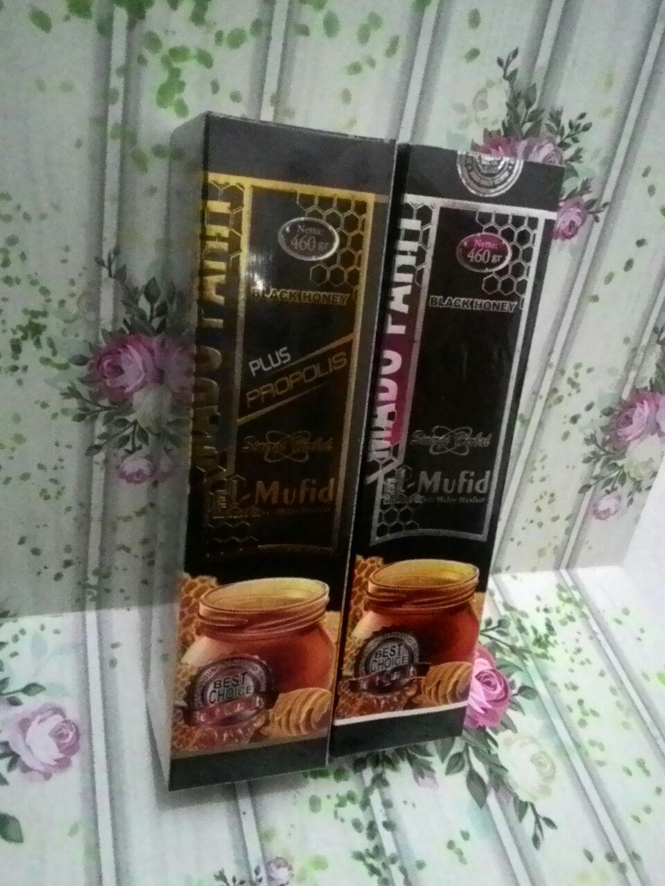 Madu Hitam Pahit El-Mufid Premium dan El-Mufid Plus Propolis